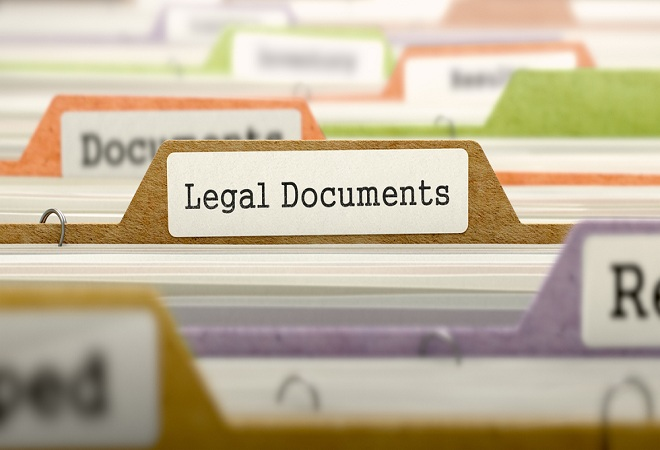 Legal Documents that can't be Emailed and Need to be Couriered